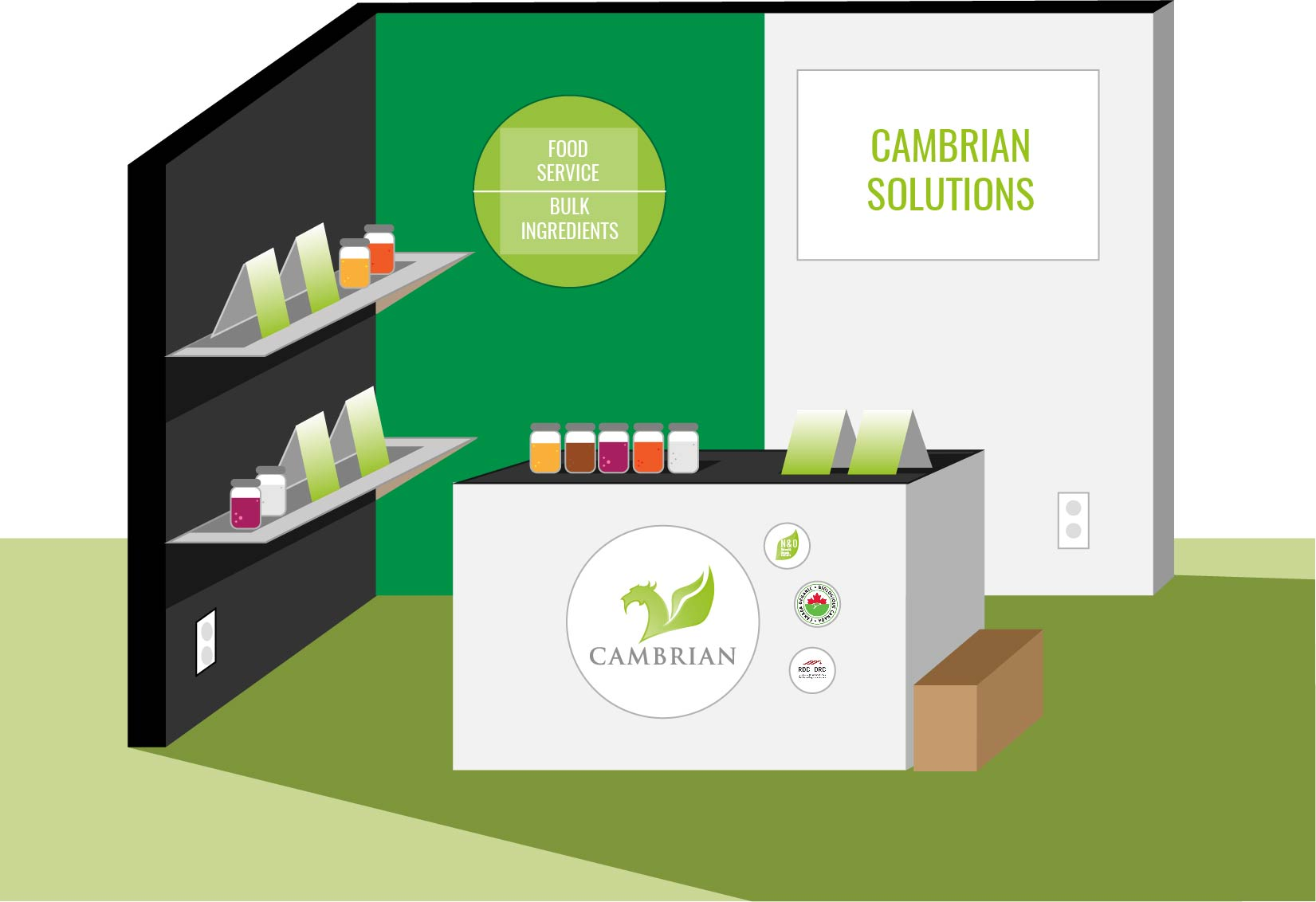 Illustration of Cambrian's Booth